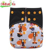 baby diapers size - Cloth Diapers All n Two AI2 Reusable Pocket Snaps Baby Sleep Diaper Print Newborn Diaper Cover Double Gussets One Size
