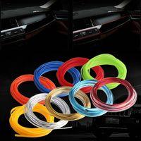 automotive trim clips - Blue m cable car interior decorative trim body trim clip strips embedded filler strip automotive styling accessories