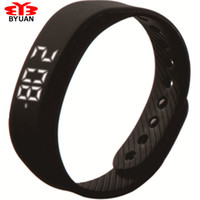 Wholesale Sport Band Smart D Step Gauge Smart Wristband Candy Calories Bracelet Watch Step Meter Time Date Distance Wrist one band free