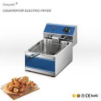 basket deep fryer - Single Basket Potato Chips Deep Fryer Machine For Sale