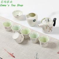Wholesale Recommend total set Ceramic pot Cups Strainter pc Pitcher