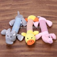 Wholesale New Dog Toys Pet Puppy Chew Squeaker Squeaky Plush Sound Duck Pig amp Elephant Toys Designs