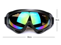 amber safety glasses - Custom Snow Goggles Windproof UV400 Motorcycle Snowmobile Ski Goggles Eyewear Sports Protective Safety Glasses with strap