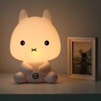 Cartoon No No NEW Baby Room Rabbit Bear Panda Dog Cartoon Animal Night Light Warm Lamp Children Night Sleeping Bed Room Lamp Best Gift For Kid