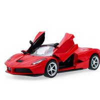 Wholesale Hot simulation coupe series model two doors sound and light back to the child toy car