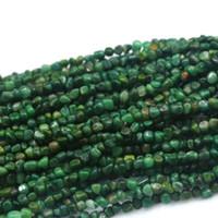 al por mayor verde de áfrica-Venta al por mayor natural auténtica verde África Jade pequeña pepita libre forma de filete de perlas irregulares caben la joyería 15