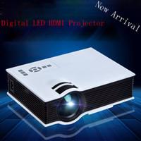 Grossiste-Avec CE CE Marque de haute qualité HDMI USB Projecteur Vidéo LED 20000 heures Lampe Choix parfait pour la salle Home Cinema Beamer Projecteur