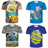 adventure time shirts - Alisister new fashion adventure time t shirt men women cute t shirt print d cartoon shirts Unisex graphic t shirt d tee shirt