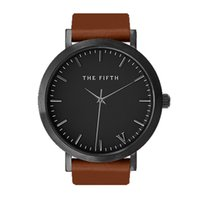 Casual auto simplicity - The fifth brand mesh watch simplicity classic men leather wristwatch Fashion Casual Quartz Wristwatch high quality women watches
