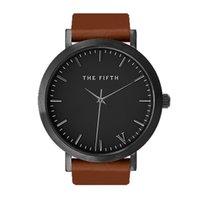auto simplicity - The fifth brand mesh watch simplicity classic men leather wristwatch Fashion Casual Quartz Wristwatch high quality women watches