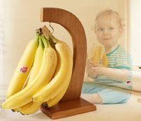 banana hangers - Solid wood Fruit Rack Creative Displaying Banana Hanger Grape Holder Extend the freshness time Kitchen Storage Rack