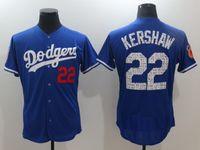 Baseball baseball apparel - Dodger Kershaw Baseball Jerseys Spring Training Jersey Blue Men s Vintage Baseball Wears New Baseball Apparel