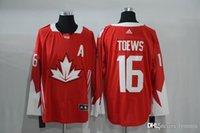 Cheap #16 Toews 2016 New Arrivals Mens Team Canada Red Olympics World Cup Hockey Ice NHL 16 Toews Jerseys Free Shipping Lymmia