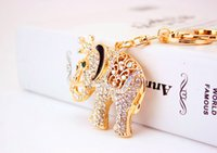 auspicious car hanging - Jewelry Korea Hanging ornaments key ring auspicious elephant cute crown small elephant car pendant animals