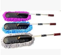 Wholesale 2016 Top Sale Large Microfiber Telescoping Car Wash Body Duster Brush Dirt Dust Mop Cleaning Tool Dusting Mops Dusters