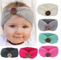 amazing knit - Baby Hair Accessories Hairband Button Headwear Infant Girl Knitted Amazing Hair jewelry Baby Photography Props inches