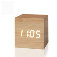 Wholesale Silent Digital Clock - Wholesale-2016 Antique office clock Digital clock LED Retro table personalized brief art clock silent watch gift small electronic clock