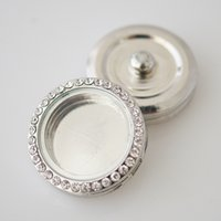 Wholesale High quality mm alloy Floating locket with Snap for snaps jewelry KB0199