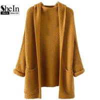 beige chunky knit cardigan - SheIn Woman s Fashion Fall Sweater Coat Womens Cardigan Long Sleeve Pockets Chunky Knit Khaki Coat Sweater Cardigan Women