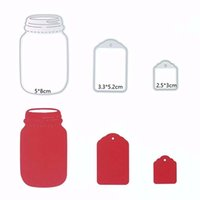 Wholesale 1Set Kawaii Wishing Bottle Cutting Dies DIY Scrapbooking Diary Paper Card Hand Craft
