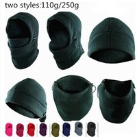 army ski mask - 6 in Thermal Fleece Balaclava Hats Hood Police Swat Ski Mask Bike Beanies thickening Winter Wind Stopper Face Caps Motor Helmet outdoor
