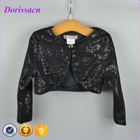 baby shrug - Fashion Sequins Black Children Clothes Kids Baby Wear Jacket Top Shrug Fashion Design Cardigan Party For Girls Bolero