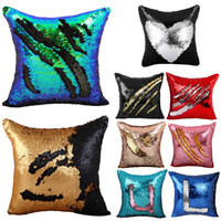 adult knitting patterns - Fashion x16 inches Double Color DIY Pattern Reversible Glitter Sequin Sofa Bed Decor Cushion Pillow Case Cover JN236