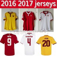 Wholesale 2016 Sevilla Jerseys NASRI CORREA VITOLO VAZQUEZ Uniform shirts TOP Thailand Quality shirts