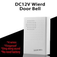 bell house hotel - DC12V Wired Door Bell For Hotel Apartment house villa door access control system with wires and ding dong sound