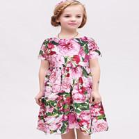 american princess brand dresses - WLMONSOON Girls Cotton Rose Bianco Dresses Brand Summer Princess Dress Robe Fille Girls Costume Children Dress Kids Clothes
