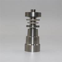 Wholesale Universal Domeless Titanium Nail IN mm mm Dual Function GR2 Wax Oil Hookah Water Pipes Bong Ash Dab Rigs