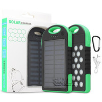 Wholesale Universal mAh Solar Charger Waterproof Solar Panel Battery Chargers For Smart Phone iPhone Tablets Camera Mobile Power Bank Retail Box