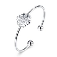Wholesale 2017 New Designs Snow Owl Leaf Silver Plated Bracelet Bangle Cuff with AAA Cubic Zirconia Women s Girl s Fashion Jewelry