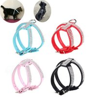Wholesale Dog Collar Harness Fashion Pet Collar Necklace for Pet Adjustable Quick Release Puppy Shining Diamond Rhinestone Sparkly XS L A