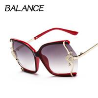 achat en gros de cadres élégants-Élégant grand papillon lunettes de soleil pour les femmes designer de marque lunettes de métal Flower Frame 7 couleurs oculos de sol féminin S15029
