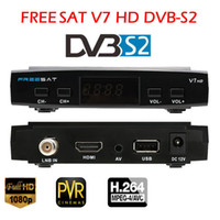 Wholesale UK Store Freesat V7 HD Satellite TV Receiver DVB S2 Support USB Wifi Set Top Box