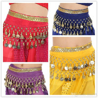 Wholesale New Fashion Girls Belly Dance Costume Belly Dance Waist Chain Child Belly Dancing Clothes Kids Stage Wear B0926