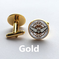 Wholesale Fashion handmade Cufflink Classic Style Angel Wings Picture dome glass Steampunk Art Picture High Quality Cufflink jewelry
