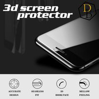 Wholesale For Iphone Plus Tempered Glass Real D High Quality Full Screen H D edge Screen Protector For Iphone