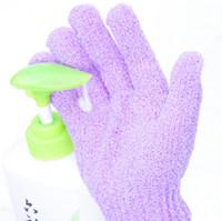 Wholesale Bathwater Scrubbing Gloves Bath Gloves Shower Exfoliating Bath Glove Scrubber Skid resistance Body Massage Sponge Gloves