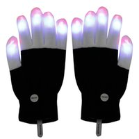 best christmas ideas - LED Gloves Flashing LED Finger Light Gloves with Colorful Rave Colors Light Show Best Idea Christmas Gift