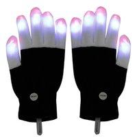 best christmas gift ideas - LED Gloves Flashing LED Finger Light Gloves with Colorful Rave Colors Light Show Best Idea Christmas Gift