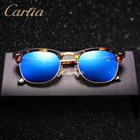 Wholesale mirror Carfia sunglasses for women acetate metal sunglasses brands oculos de sol feminino vintage mm fashion sunglasses for men
