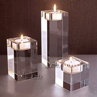 Wholesale glass candlestick romantic European style wedding home decoration crystal candle holders