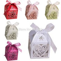 CandyBox-10 baby gift box set - Hot Sale New Set Love Heart Candy Boxes For Party Wedding Hollow Carriage Baby Shower Favors Gifts Decorations