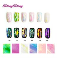 Wholesale Pack Nail Sticker Broken Glass Water Decals Mirror Effect For Nails Art Fancy Punk Galaxy Transfer Nail Foils