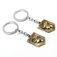 attack wall - Attack on Titan Key Chain Wall Maria Keychain Key Rings Holder Souvenir For Gift Men Jewelry New Product