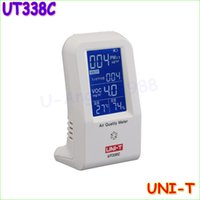 Wholesale UNI T UT338C in VOC formaldehyde detector PM2 air quality monitoring tester dust haze Temperature Humidity Moisture Meter