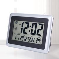 Wholesale wall clock Digital LCD alarm calendar temperature table digital alarm clock elderly timer with thermometers