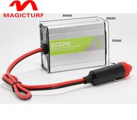 Wholesale 1pcs Car Power Inverter Converter DC V to AC V Modified Sine Wave Power with USB V Output car styling car charger w
